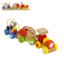 Lernzug mit bunten Aktivitätswagen